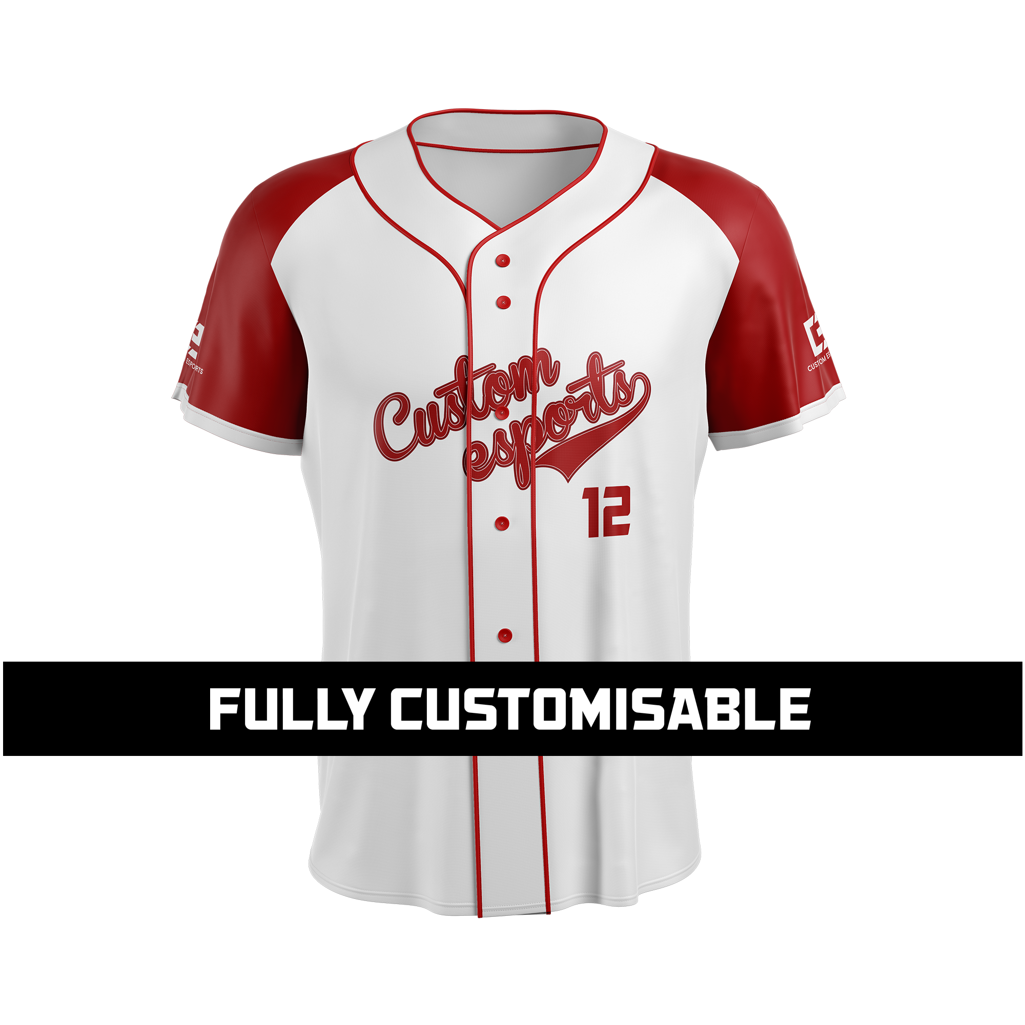 ec20658a318 Custom Short Sleeve Baseball Jersey - Custom Esports